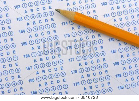 Exam Sheet And Pencil