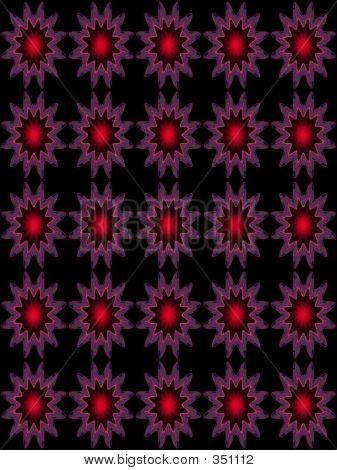 Embossed Pattern Star Redblack
