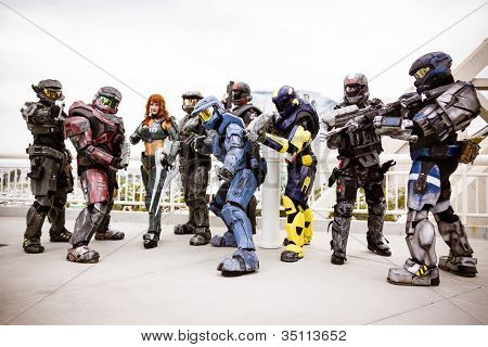 Cosplayers de Halo no Comic Con 2012