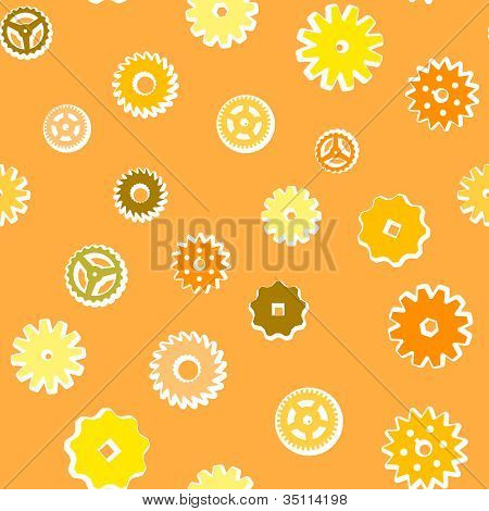 Vintage Vector Gears Background