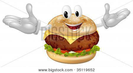 Burger Mascot Man