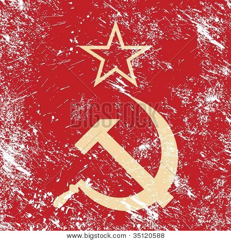 Communism CCCP - Soviet union retro flag
