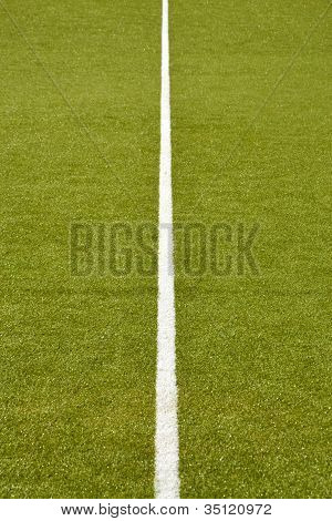 middle line of a football / soccer turf