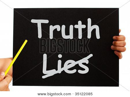 Truth Not Lies Board Shows Honesty