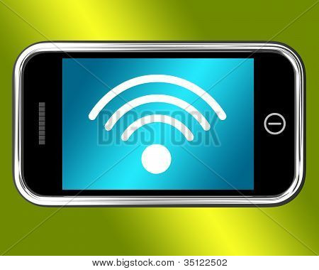 Wifi Internet Connected On Mobile Phone