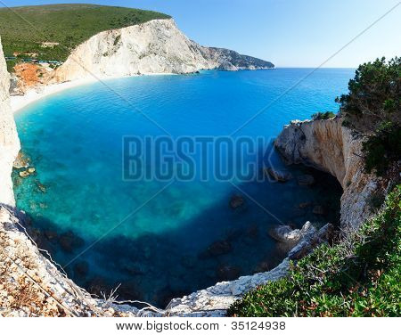 Summer Coast  Panorama With Sandy Beach  (lefkada, Greece).