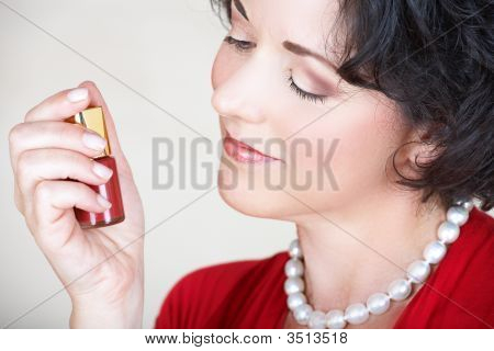 Woman And Nail Polish
