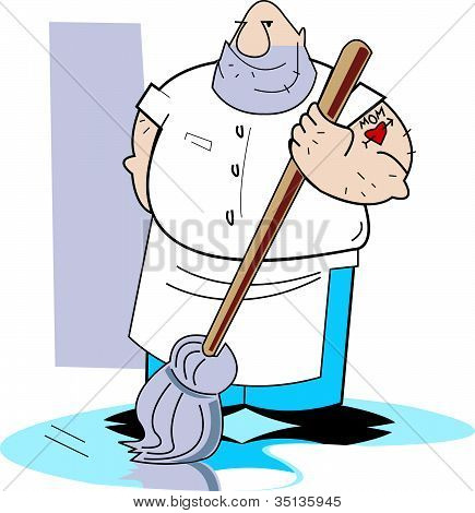 Janitor Janitorial Clip Art