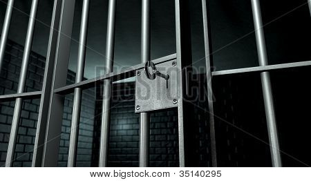Jail Cell With Open Door