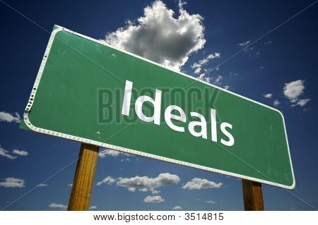 Ideals Road Sign