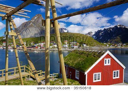 Rorbuer On Lofoten In Norway