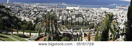 Haifa from the Baha'i Gardens
