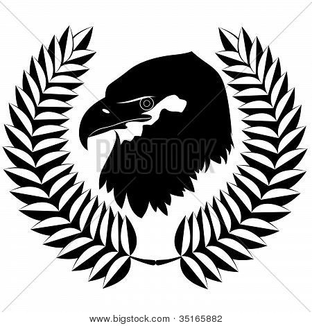 The eagle and wreath