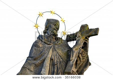 Statue of a Saint over white