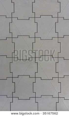 Wall Structure Of Jigsaw Pieces
