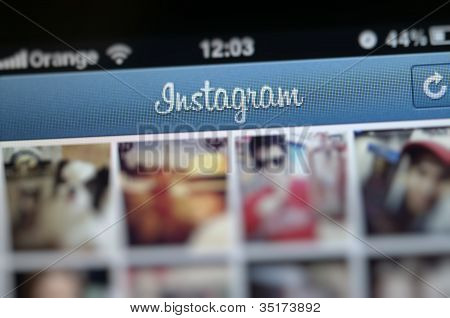 Instagram logo on iPhone