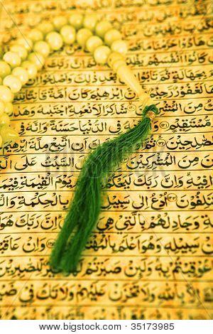 Vintage Koran And Muslim Prayer Beads