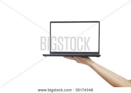 Empty Copyspace On Laptop