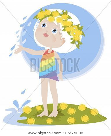 Little Girl And The Summer Rain