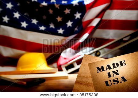 Made In Usa Stencil At American Construction Site