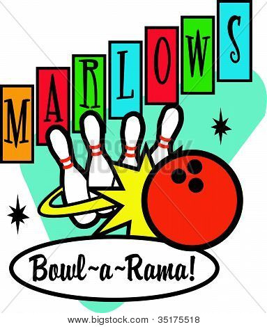 Bowling Sign Clipart