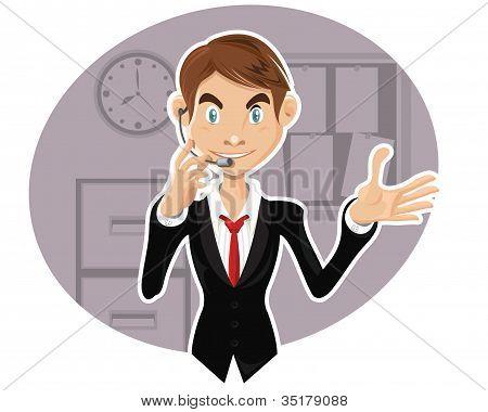 Social Networking Man