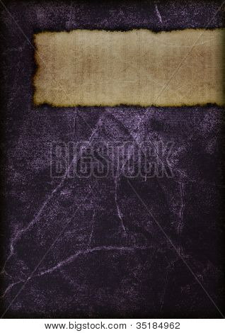 Mysterious Book Cover - Violet