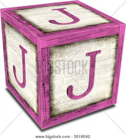 Alpha Block J Pink