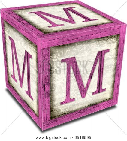 Alpha Block M Pink