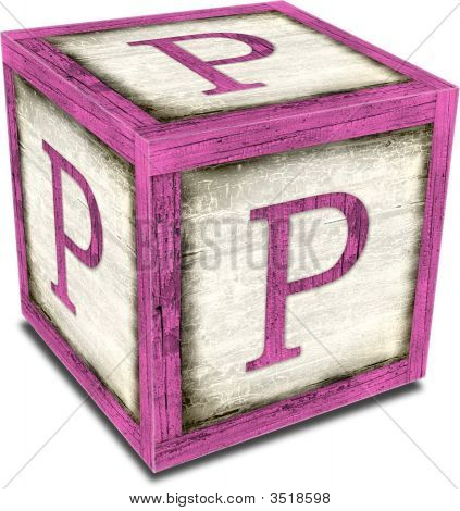 Alpha Block P Pink