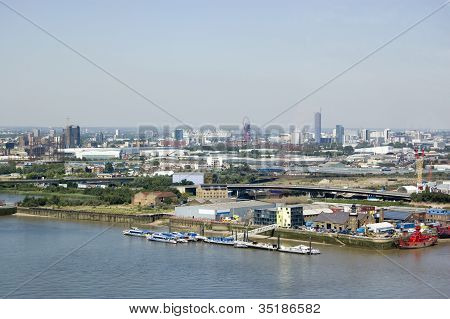 London Borough of Newham from Above