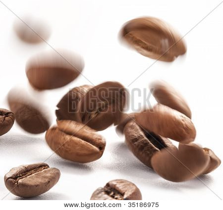 Flying coffee bean