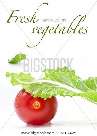 Set of fresh tomatoes