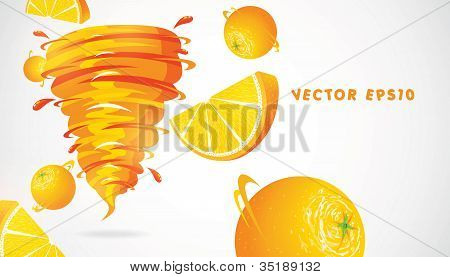 Orange with juicy twister