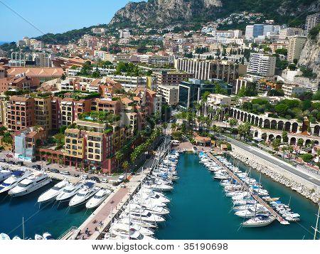 View Of Luxury Yachts In Harbor Of Monaco