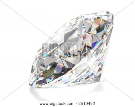 Diamant, Isolated On White Background
