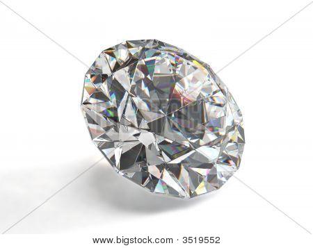 Diamant, Isolated On White Background