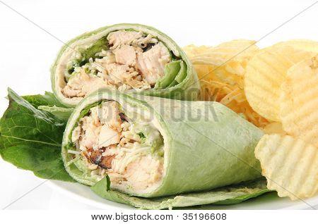 Chicken Ceasar Wrap Closeup