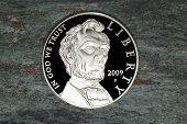 Постер, плакат: Монета Серебряный доллар Линкольн