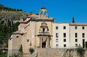 stock photo of parador  - Parador nacional of Cuenca in Castille La Mancha Spain - JPG
