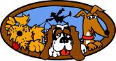Dog Sitter Sitting Clip Art