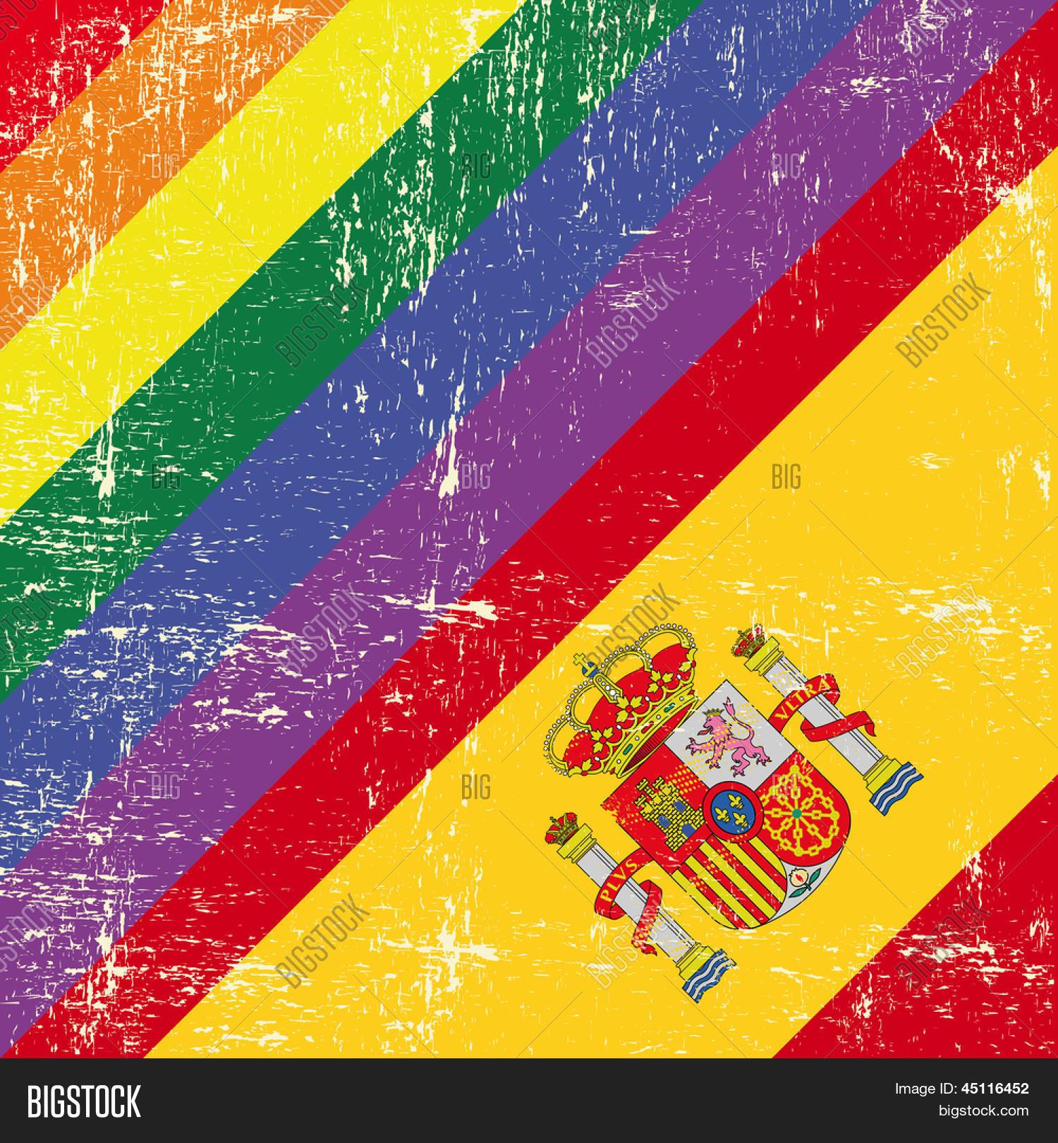 spanish grunge flag mixed vector u0026 photo bigstock