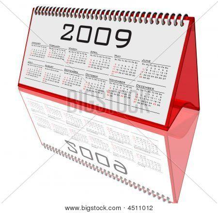 Desktop Calendar 2009 On White