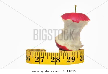 Apple Core On Measuring Tape