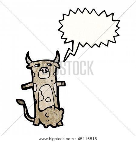 cartoon cow mooing