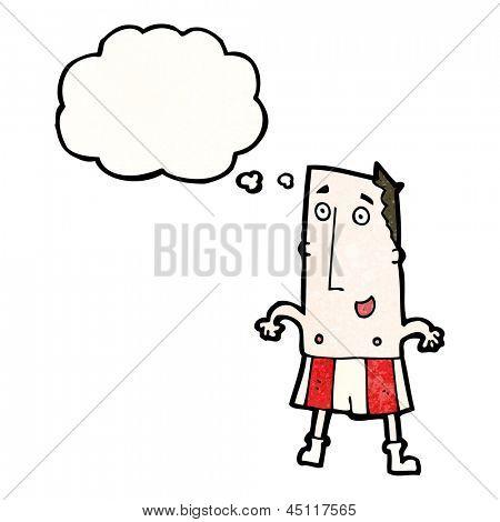 cartoon man in underpants