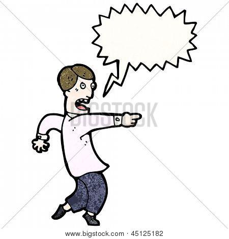 cartoon man pointing accusation