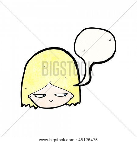 annoyed girl cartoon