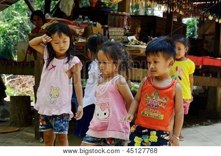 Unidentified street children