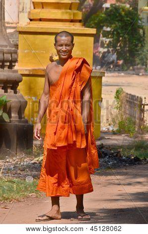 monks posing